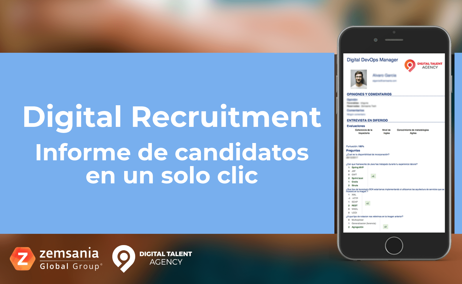 Digital Recruitment informe de candidatos
